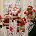 Christmas Ornaments Santa Claus Snowman Reindeer Toy Doll Hang Decorations Gift
