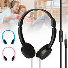 Foldable Over Wired Ear Headphones Headband Kids Earphone w/Mic for iPad/Tablet