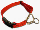 Внешний вид - Half Chain Nylon Martingale Dog Collar Quick Release Buckle S M L 5 Colors USA