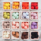 Внешний вид - Assorted 10pcs 20mm Wool Felt Balls DIY Garland Decor Room 12 Colors
