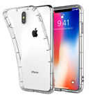 STRONG CLEAR TPU GEL CASE COVER W/ AIR PILLOW CORNERS FOR IPHIONE XS MAX XR