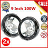 """1 Pair 9"""" inch 12V 100W HID Driving Lights XENON Spotlights for Offroad NEW QQ"""