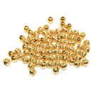 gold plated beads 4mm round corrugated