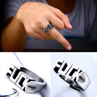 Unisex Stainless Steel Cool Gothic Punk Biker Finger Rings Jewelry Rock Gifts