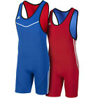 adidas Performance Mens Reversible Wrestling Sports Singlet Suit - Blue/Red
