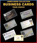 JAMES BOND OO7.. COLLECTOR BUSINESS CARDS $11.0 USD on eBay