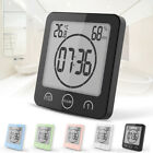 Wall Mounted Digital Shower Clock Humidity Bathroom Clock for Kitchen Shower USA