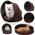 Collapsible Pet House with Removable Cushion Spiral Foldable Dog Cat Bed Tunnel