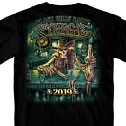 2019 Sturgis Motorcycle Rally Outlaw Saloon Black T-Shirt Rally Shirt image