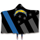San Diego Chargers Hooded Fleece Sherpa Wearable Blankets Cloak Throw Blanket $19.99 USD on eBay