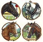 Horse Racing 4 designs Select-A-Size Waterslide Ceramic Decals Xx image