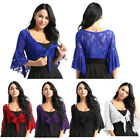 Womens Belly Dance Costume Long Flare Sleeve Lace Blouse Tops Cardigan Wraps