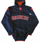 Denver Broncos NFL Hooded Pullover Quarter-Zip Jacket Blue Big & Tall Sizes $49.99 USD on eBay