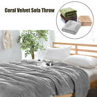 Coral Fleece Blanket Warm Microfiber Blanket Bed Sofa Cover Throw Twin Bed  image
