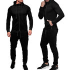 Men's Tracksuit Jogging Hoodie Coat Jacket +Trousers Pants Sports Sweat Suit Set