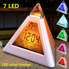 Popular 7 Color-Changing Alarm Clock LED Temperature Calendar Cube World Time