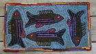 Внешний вид - FISHING FOR COMPLIMENTS Complete Primitive Rug Hooking Kit with cut wool strips