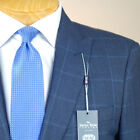 42R SAVILE ROW Blue Check 3 PIECE SUIT SEPARATE  42 Regular - SS46a