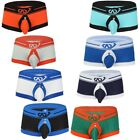 Sexy Men Trunk Jockstrap Boxer Briefs Open Butts Buckled Pouch Underwear Shorts