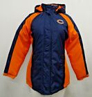 Chicago Bears Women's Hooded Winter Jacket Blue Orange NFL M