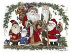 Christmas Santa Holly Group Select-A-Size Waterslide Ceramic Decals Ox image