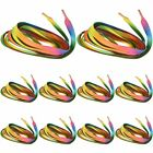 Rainbow Candy Colored Shoe Lace Boot Laces Sneakers Shoelaces Strings ZX