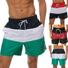 Men's Swim Beach Shorts Surf Board Printed Trunks with Pockets Casual Quick-dry