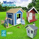 Kids New Cubby House Wooden Playhouse Cottage Children Outdoor Play Toy Set