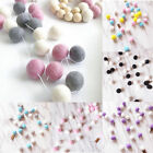 30X Handmade Felt Ball Colorful Pompom Garland String Hangings Kids Room Decor
