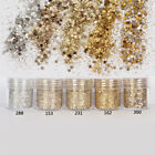 10ml Silver Color Nail Glitter Dust Fine Mix 3D Nail Sequins Glitter  ca