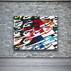 Air Jordan 1 Colorful Design Wall Art Framed Canvas and Print