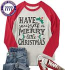 Dutut Plus Size Have Yourself A Merry Little Christmas T Shirt Womens 3/4 Sleeve
