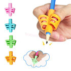 3pcs 2/3-finger Grip Silicone Kid Baby Pen Pencil Holder Help Learn Writing Tool