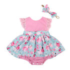 Baby Girl Kid Sister Outfit Set Floral Princess Dress Lace Romper Skirt