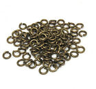 antiqued gold plated brass open jump rings 5mm 18 gauge