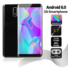 """5.7"""" Inch S9 Android 6.0 Unlocked Smartphone 3g Screen Dual Sim Mobile Phone Gps"""