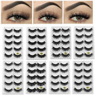 SKONHED 5 Pairs 6D Mink Hair False Eyelashes 25mm Lashes Thick Wispy Handmade