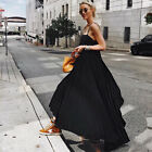 Womens Holilday Strappy Long Maxi Dress Ladies Summer Party Sun Dresses 10-16