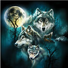5D Diamond Painting Art DIY Wolf Embroidery Cross Crafts Stitch Kit Home Decor