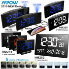 Mpow 5/11 LED Projection Alarm Clock FM Radio 12/24 Hour SNOOZE Dual Alarm US