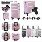 3 in 1 Aluminum Cosmetic Makeup Trolley Case Tattoo Box Lager Multi-color