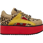 Buffalo 1330-6 Rising Towers Suede Fur Low-Top Platform Womens Trainers