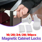 10-30 PCS Magnetic Cabinet Drawer Cupboard Lock Kids Baby Safety Child Proof Kit