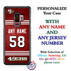 SAN FRANCISCO 49ers NFL FOOTBALL PHONE CASE COVER FOR iPHONE SAMSUNG NAME & #.