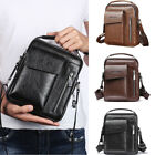 US Canis Men Crossbody Bags Small Casual Hand Bag PU Leather Male Shoulder Bags image
