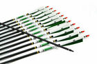 Внешний вид - SP500 Carbon Arrows with White&Green Real Turkey Feather Hides F Hunting Archery