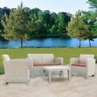 Weather Diy Outdoor Patio Garden Furniture Sofa Gray Love Seat And Coffee Table