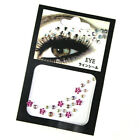 Face Jewels Rhinestones Adhesive Crystal Eye Gems Beauty Glitter Body Tattoo Art