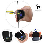 Archery Leather Finger Tab Protector Finger Guard Adjustable by Hunting Shooting