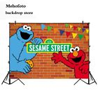 Mehofoto Elmo Party Sesame Street Photography Backdrops Red Brick Birthday